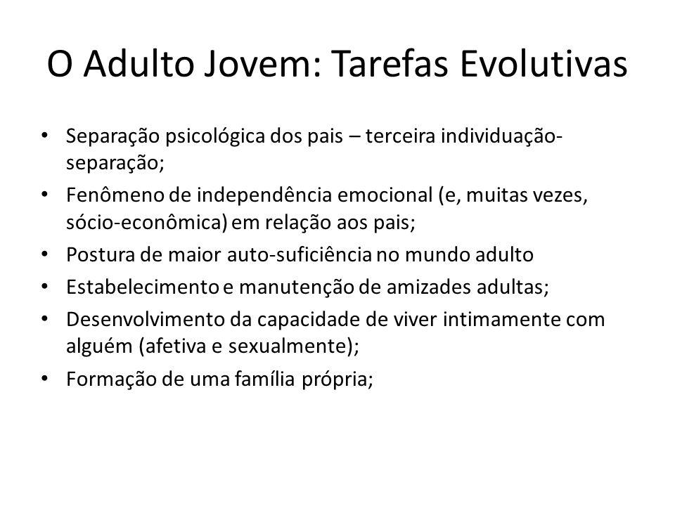 O Adulto Jovem: Tarefas Evolutivas