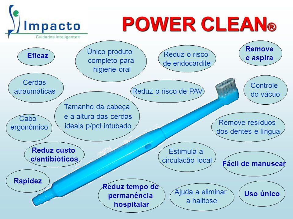 POWER CLEAN® Remove Único produto e aspira completo para Reduz o risco