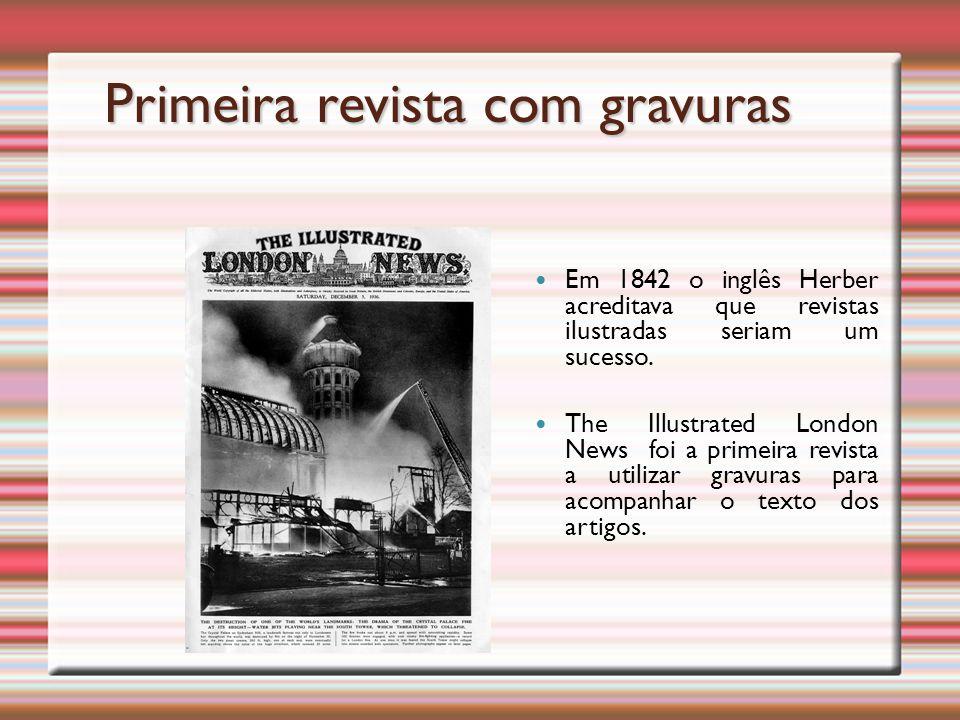 Primeira revista com gravuras