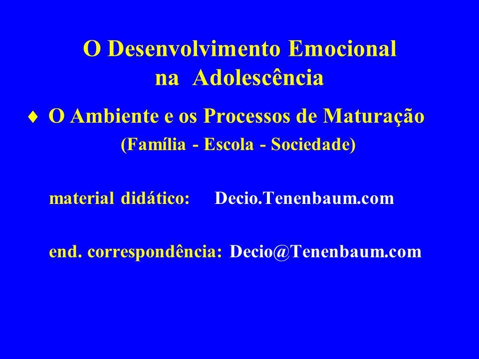 O Desenvolvimento Emocional na Adolescência