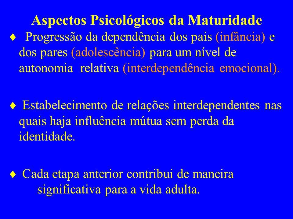 Aspectos Psicológicos da Maturidade
