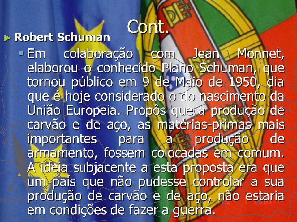 Cont. Robert Schuman.