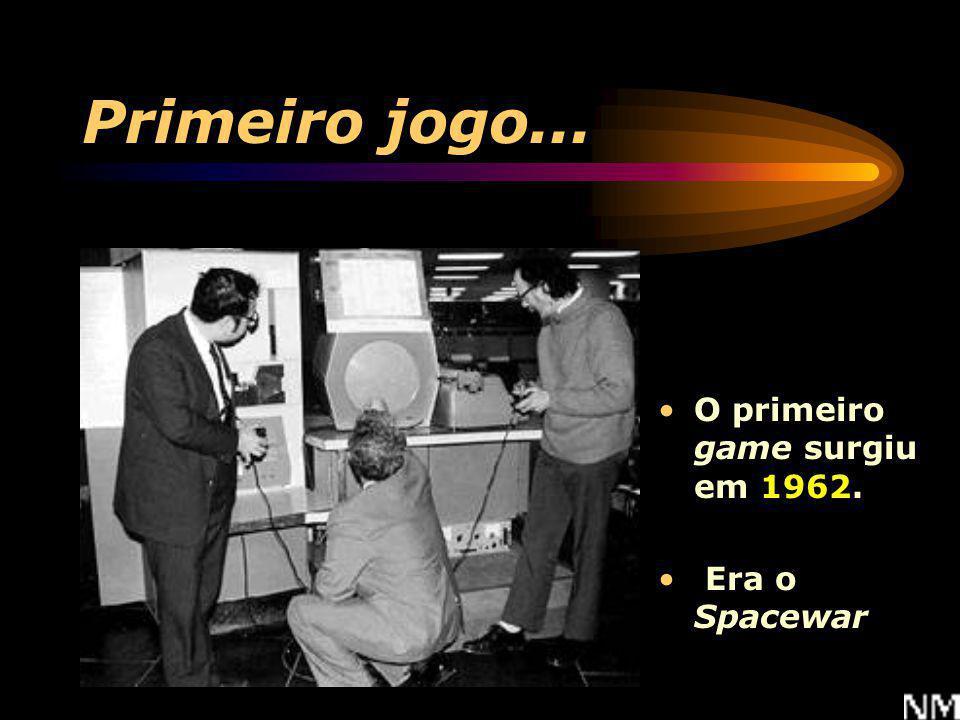 Primeiro jogo... O primeiro game surgiu em 1962. Era o Spacewar