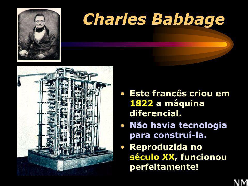Charles Babbage Este francês criou em 1822 a máquina diferencial.