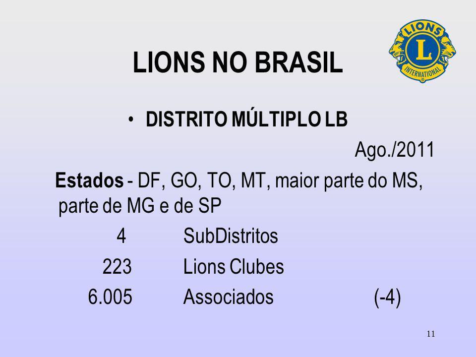 LIONS NO BRASIL DISTRITO MÚLTIPLO LB Ago./2011