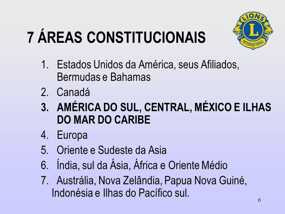 7 ÁREAS CONSTITUCIONAIS