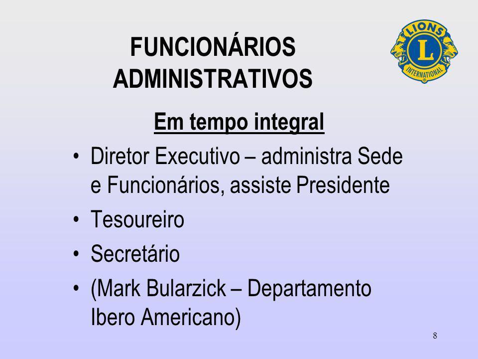 FUNCIONÁRIOS ADMINISTRATIVOS