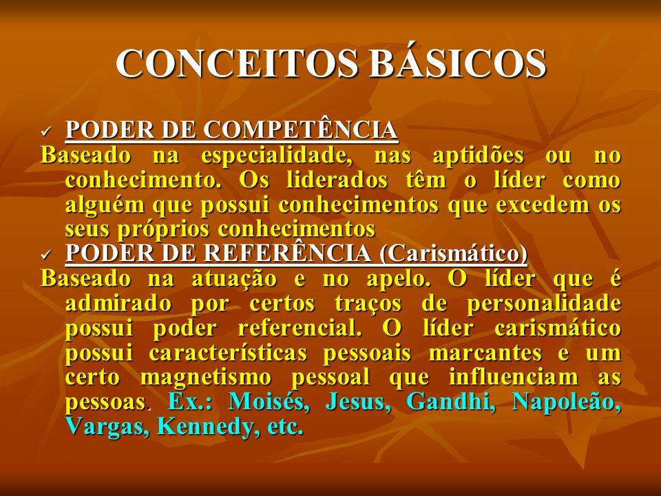 CONCEITOS BÁSICOS PODER DE COMPETÊNCIA