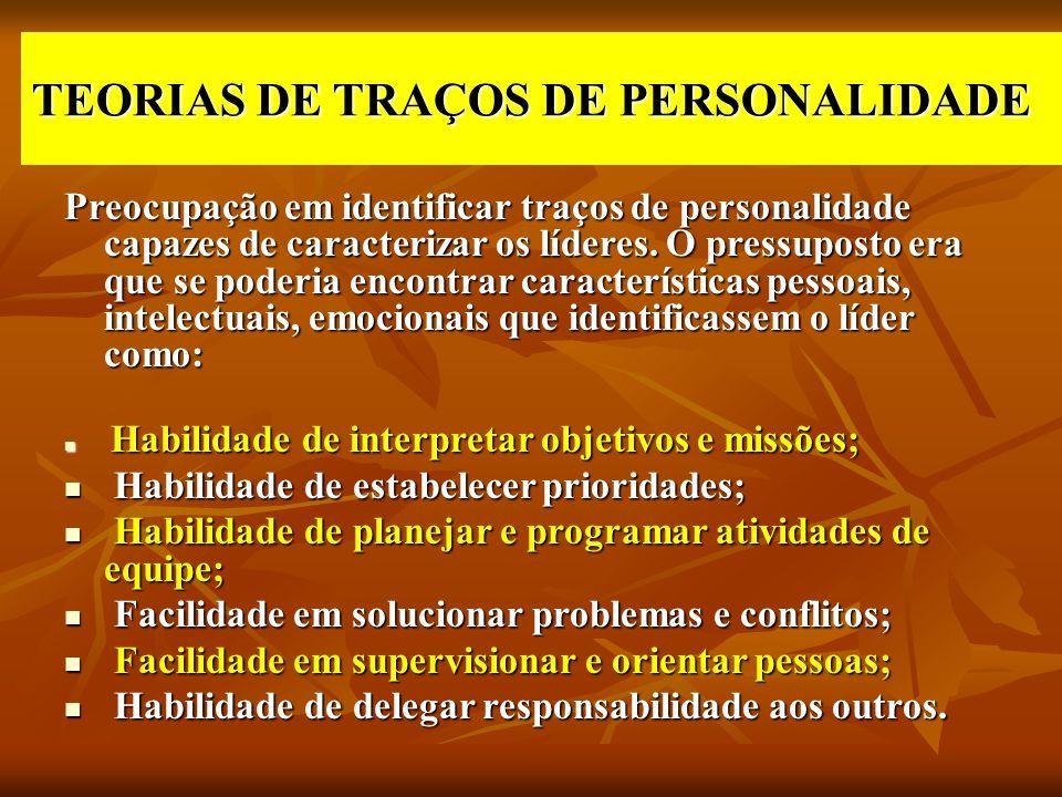 TEORIAS DE TRAÇOS DE PERSONALIDADE