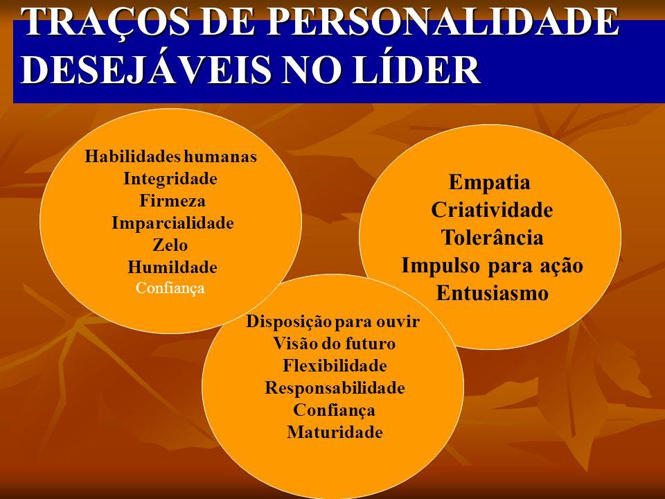 TRAÇOS DE PERSONALIDADE DESEJÁVEIS NO LÍDER