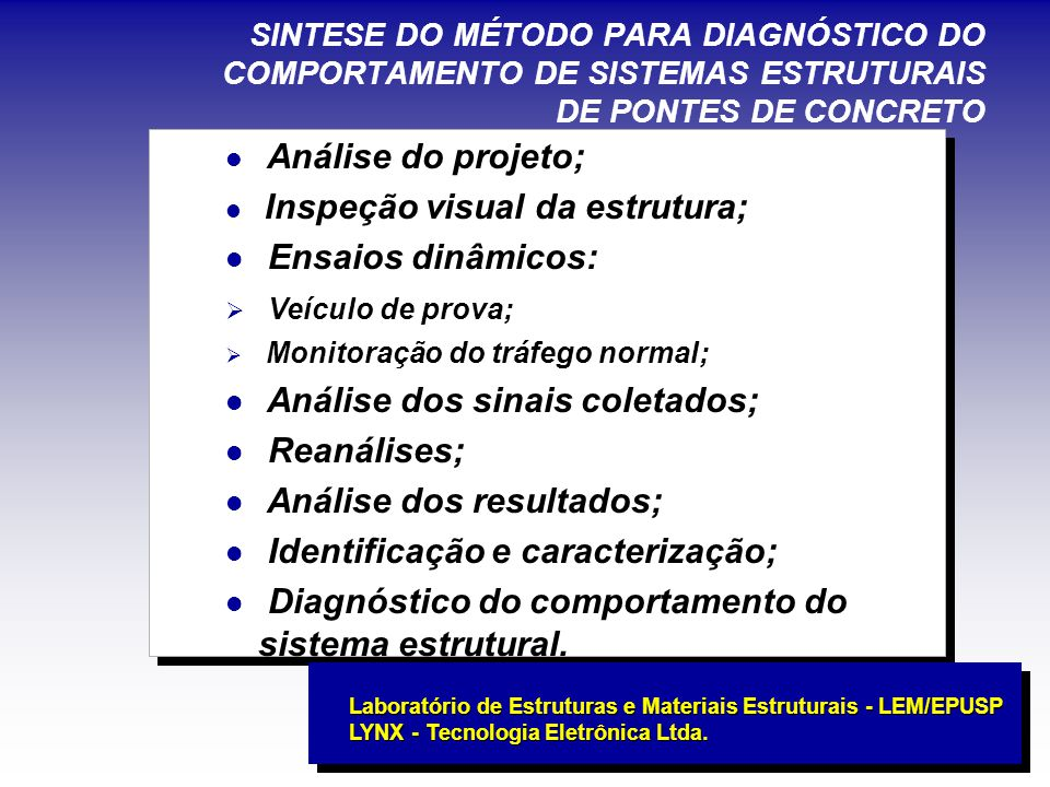 Análise dos sinais coletados; Reanálises; Análise dos resultados;