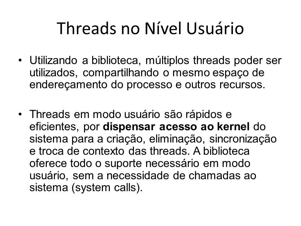 Threads no Nível Usuário
