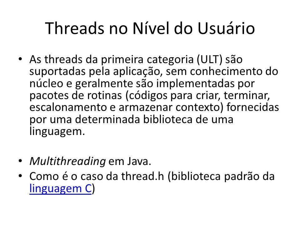 Threads no Nível do Usuário