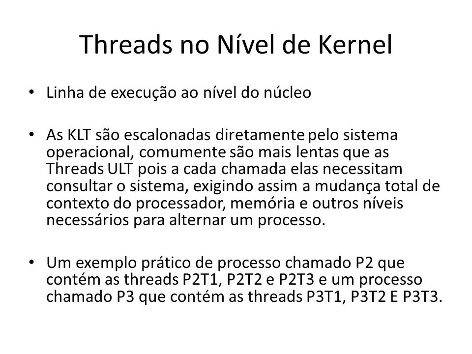 Threads no Nível de Kernel