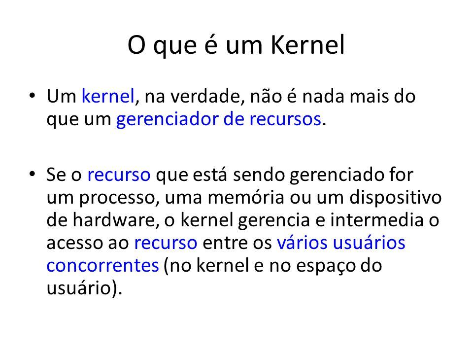 O que é um Kernel Um kernel, na verdade, não é nada mais do que um gerenciador de recursos.
