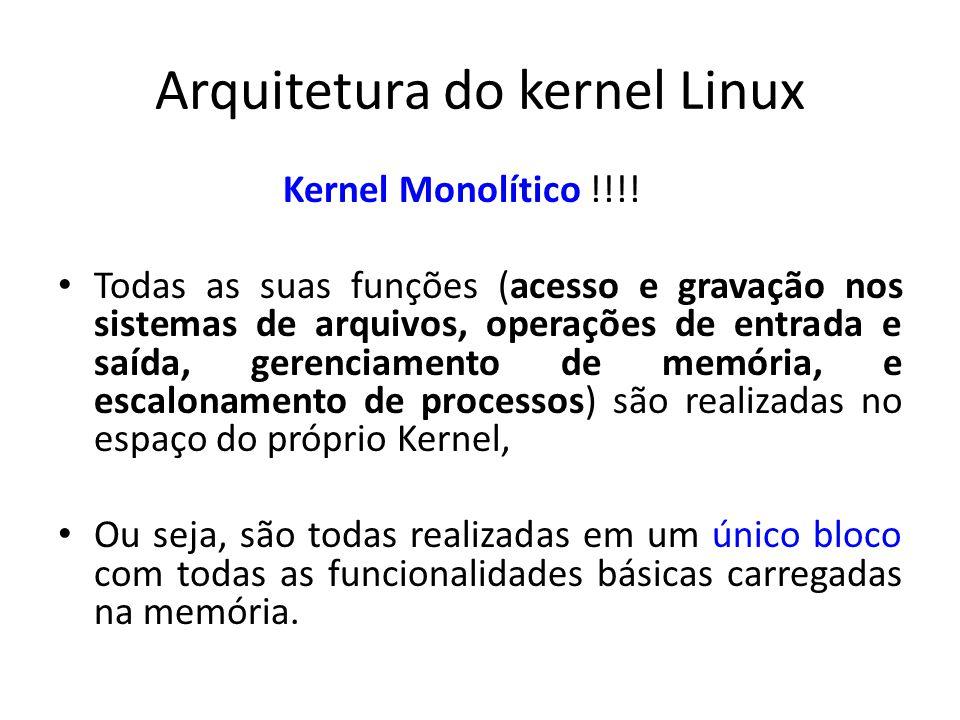 Arquitetura do kernel Linux