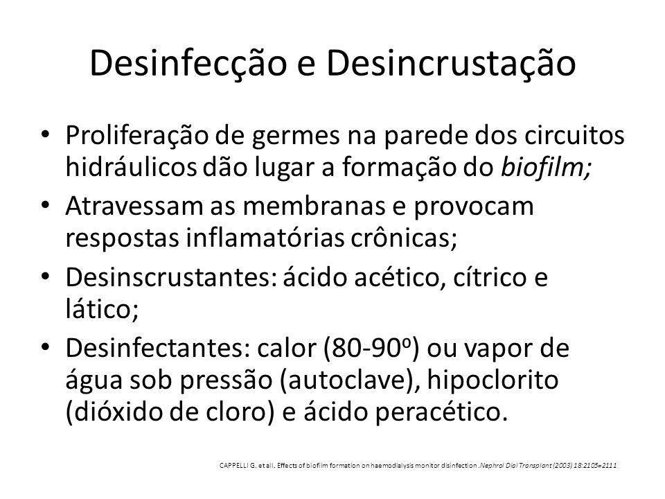 Desinfecção e Desincrustação