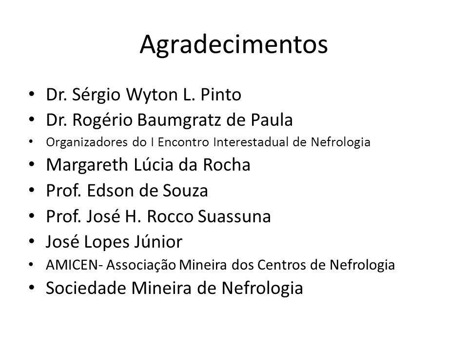 Agradecimentos Dr. Sérgio Wyton L. Pinto