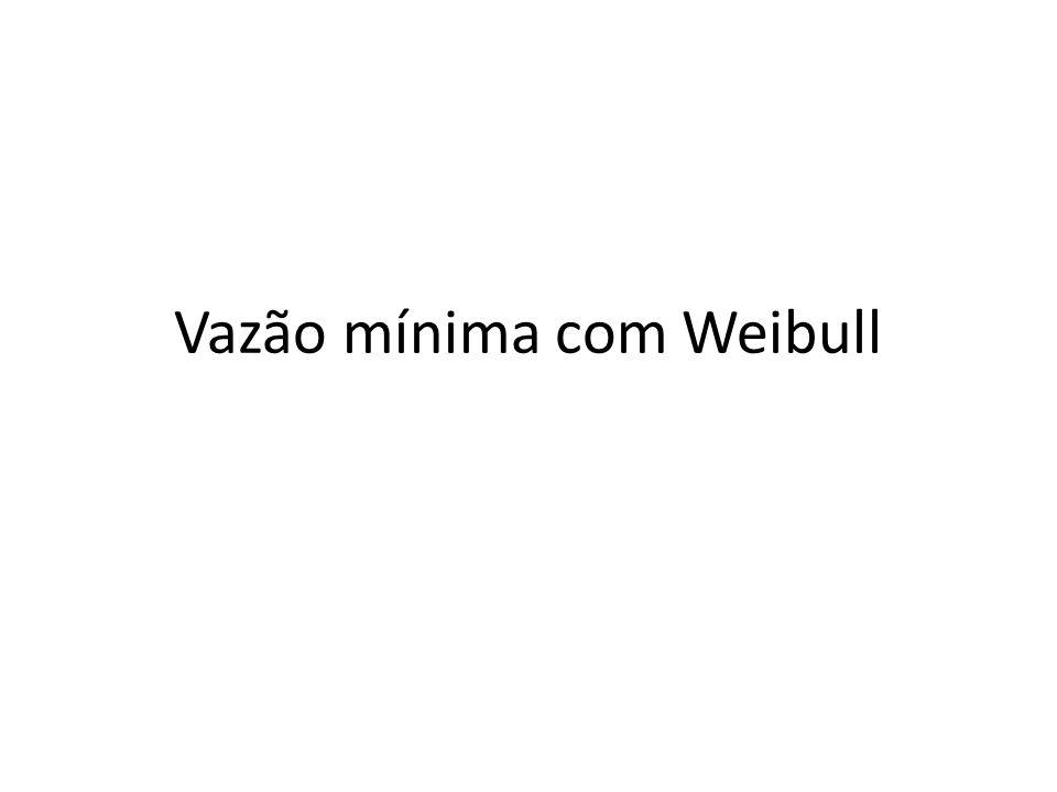 Vazão mínima com Weibull