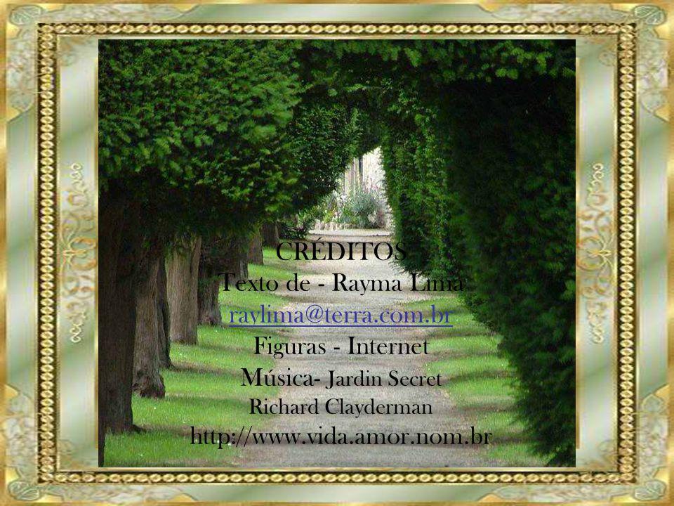 CRÉDITOS Texto de - Rayma Lima raylima@terra.com.br Figuras - Internet