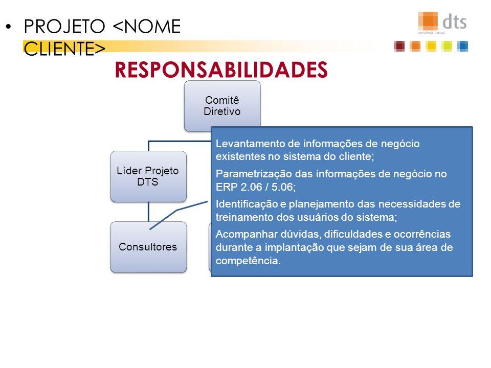 RESPONSABILIDADES PROJETO <NOME CLIENTE>