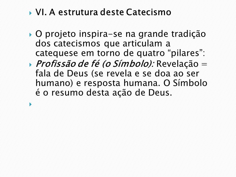 VI. A estrutura deste Catecismo