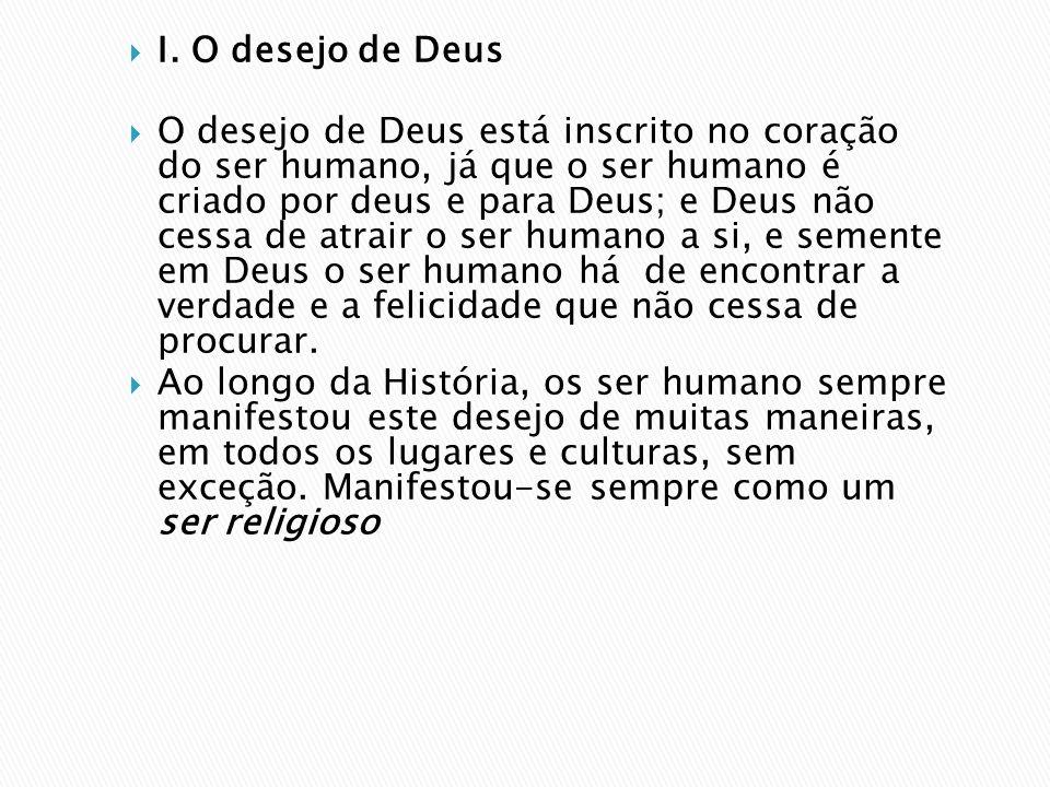 I. O desejo de Deus