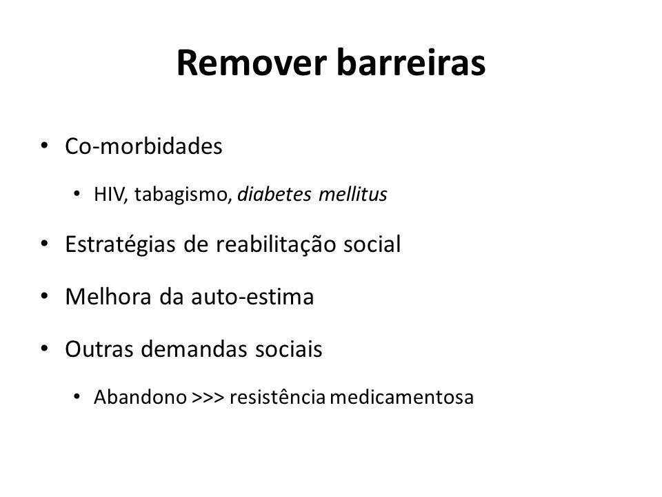 Remover barreiras Co-morbidades Estratégias de reabilitação social