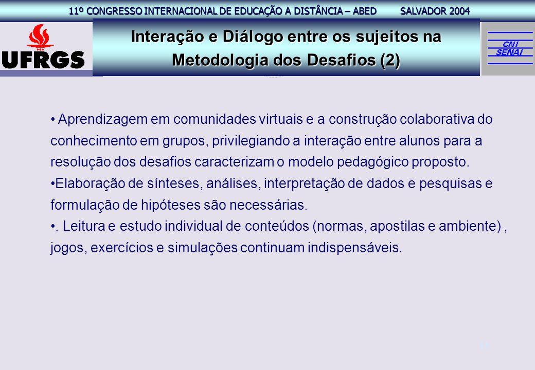 Interação e Diálogo entre os sujeitos na Metodologia dos Desafios (2)
