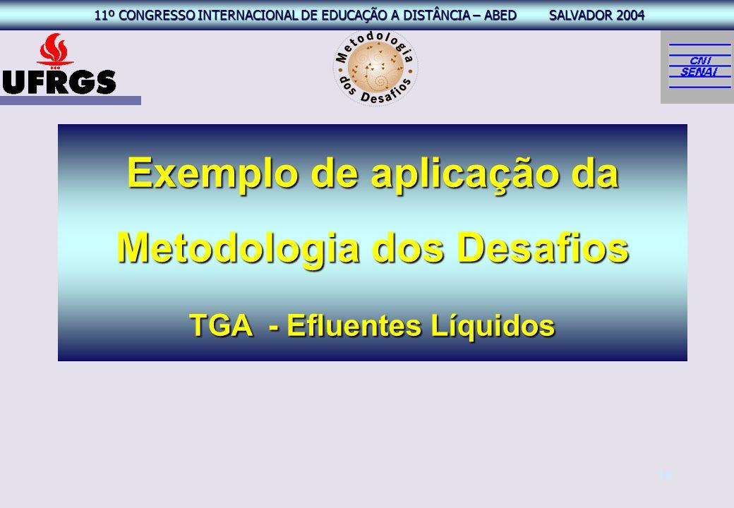 Exemplo de aplicação da Metodologia dos Desafios