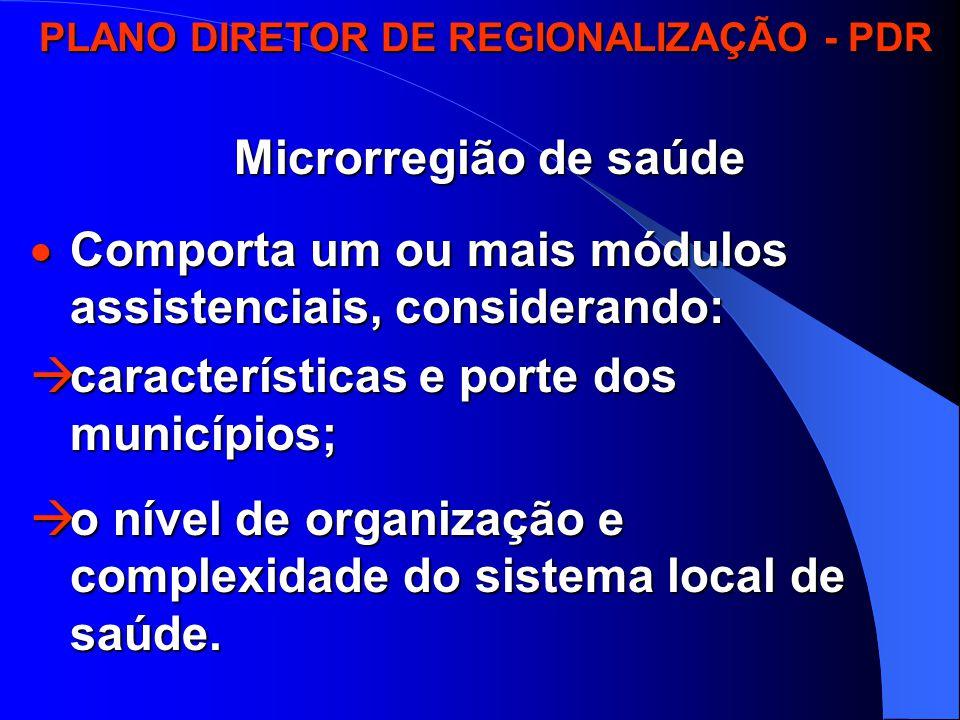 PLANO DIRETOR DE REGIONALIZAÇÃO - PDR