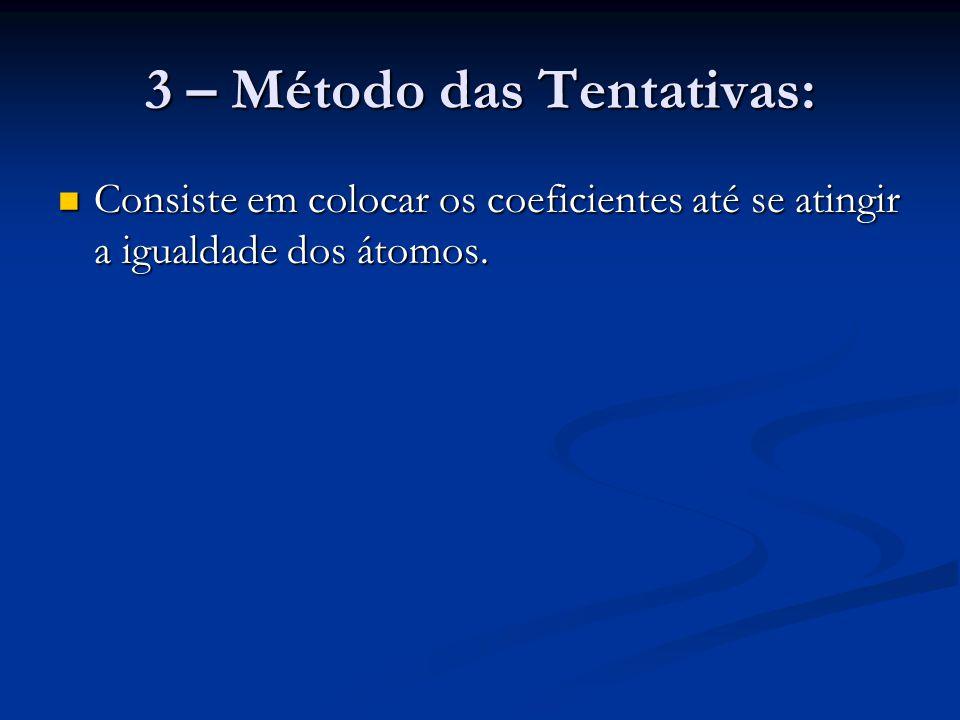 3 – Método das Tentativas:
