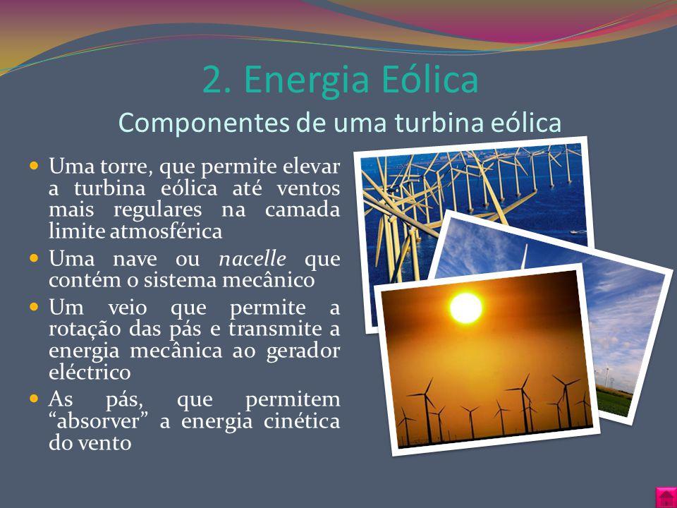 2. Energia Eólica Componentes de uma turbina eólica