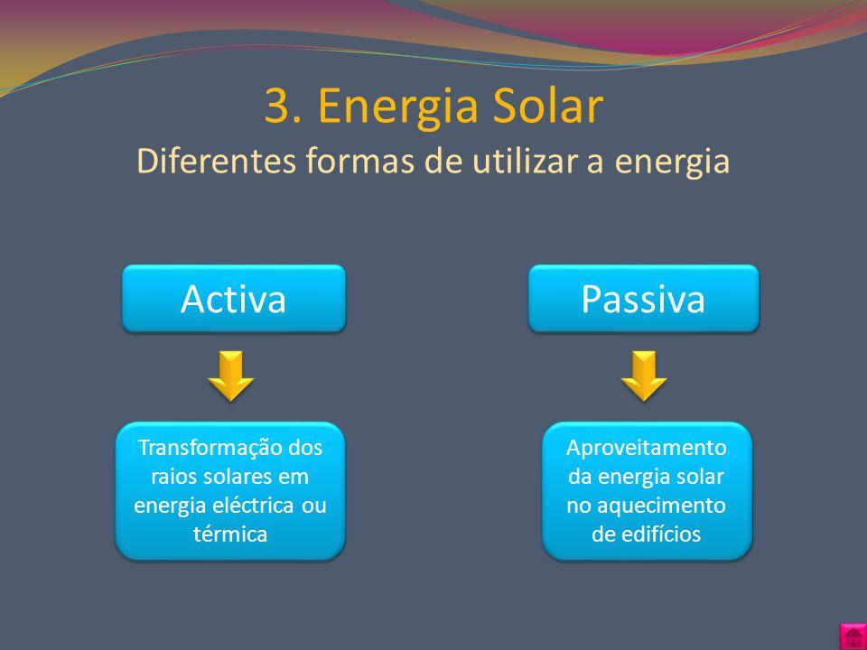 3. Energia Solar Diferentes formas de utilizar a energia
