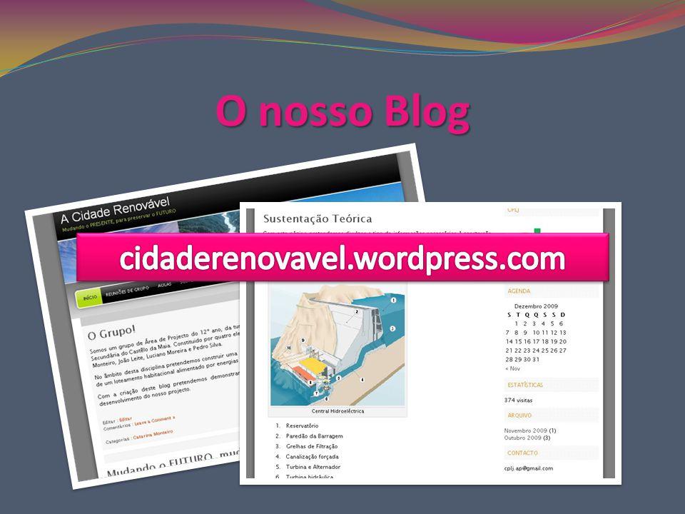 O nosso Blog cidaderenovavel.wordpress.com