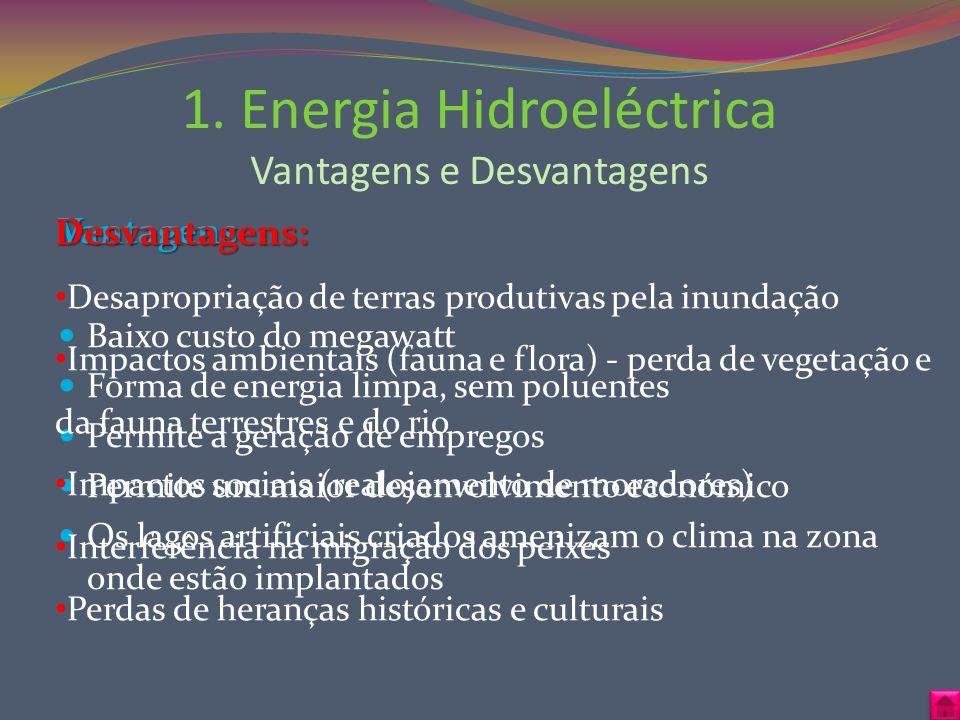 1. Energia Hidroeléctrica Vantagens e Desvantagens