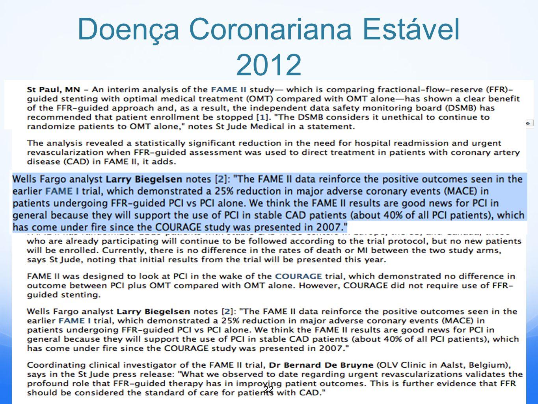 Doença Coronariana Estável 2012