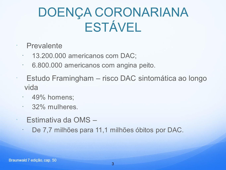 DOENÇA CORONARIANA ESTÁVEL