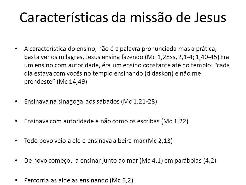 Características da missão de Jesus