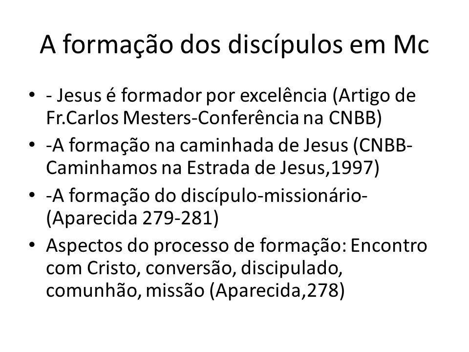 A formação dos discípulos em Mc