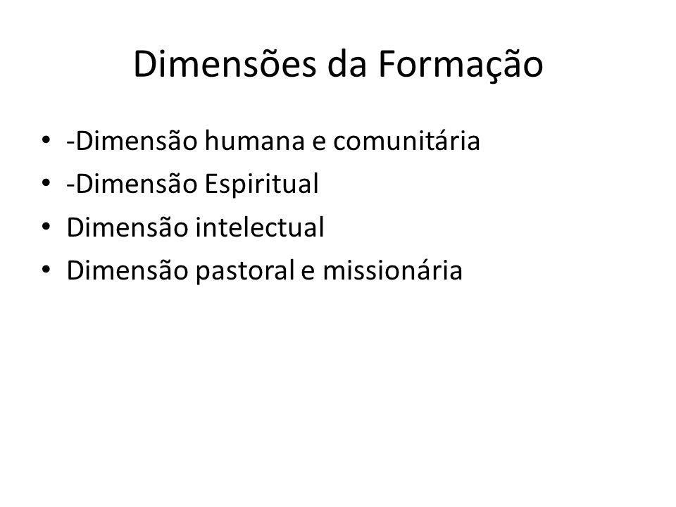Dimensões da Formação -Dimensão humana e comunitária