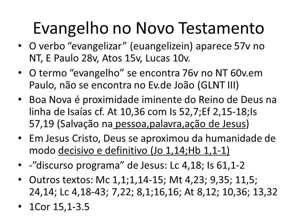 Evangelho no Novo Testamento