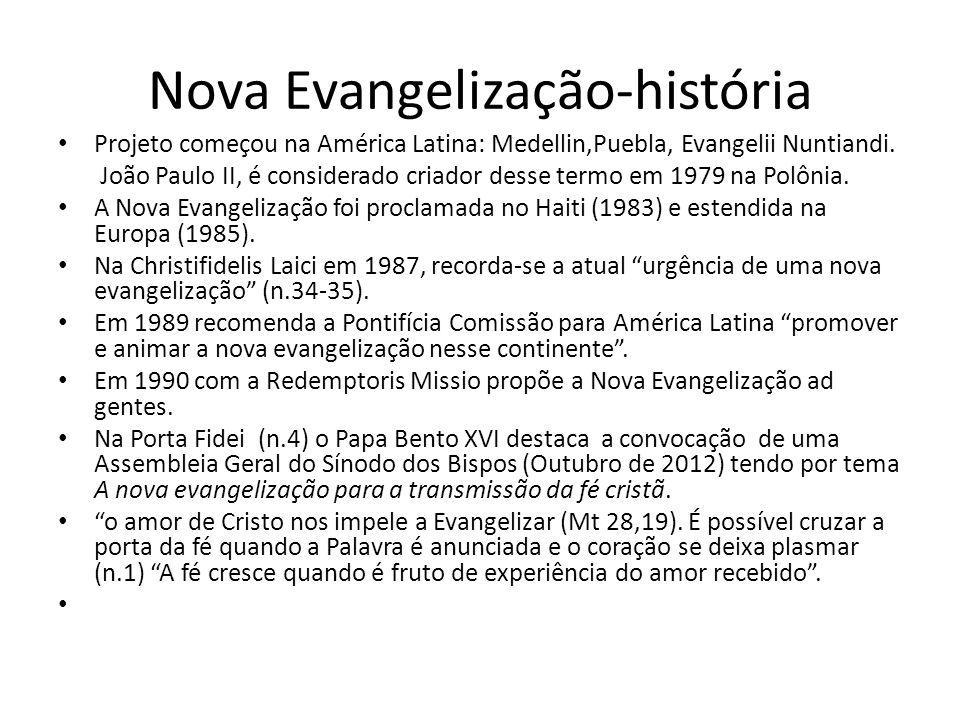 Nova Evangelização-história