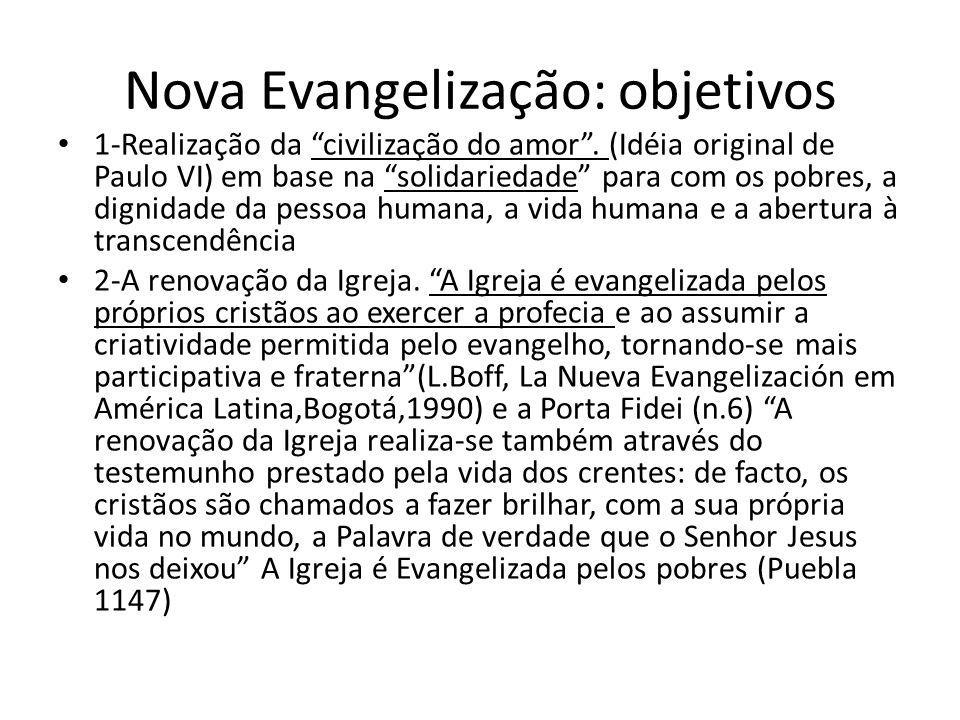 Nova Evangelização: objetivos