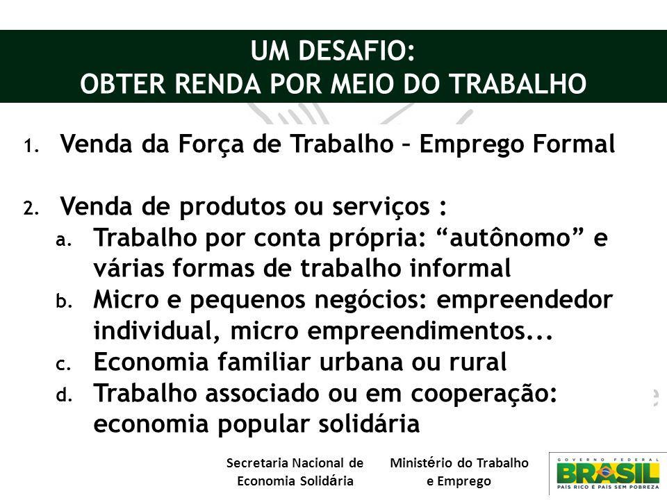 OBTER RENDA POR MEIO DO TRABALHO