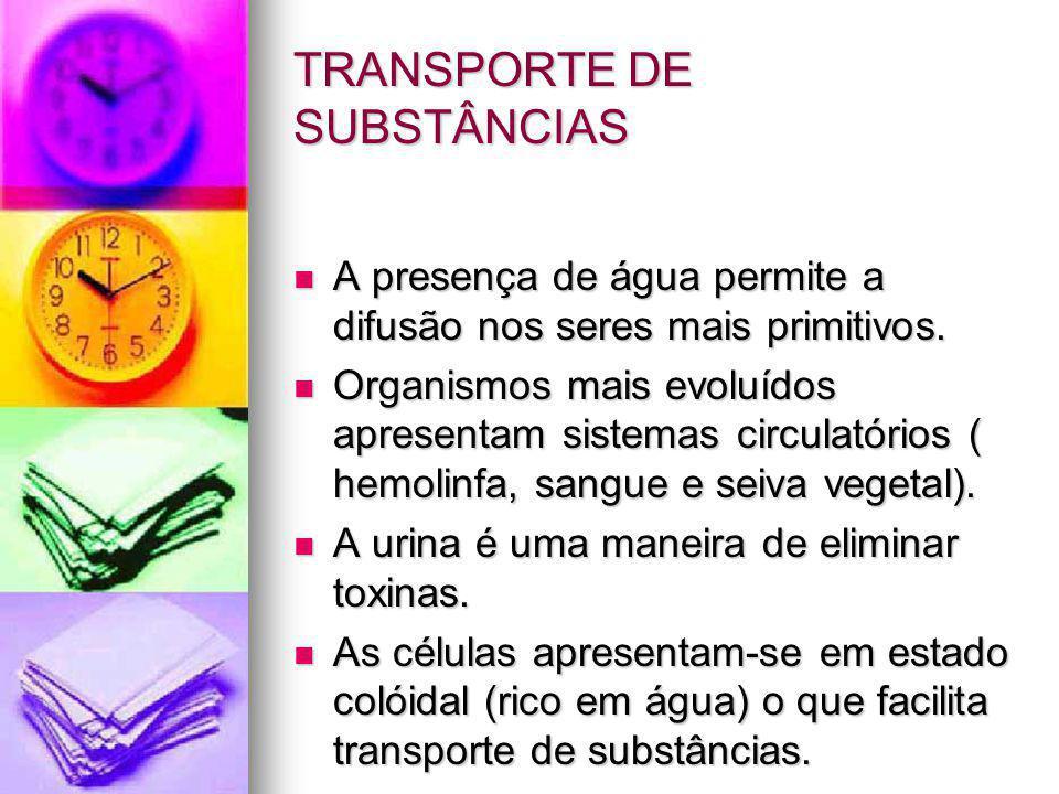 TRANSPORTE DE SUBSTÂNCIAS