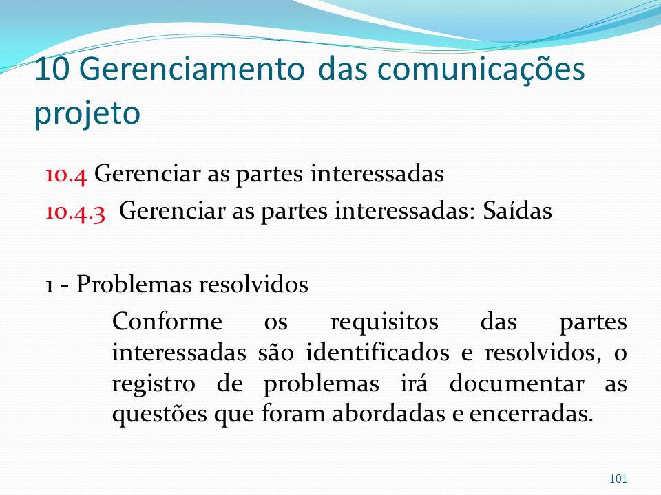 10 Gerenciamento das comunicações projeto