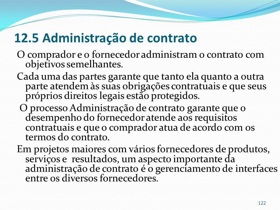 12.5 Administração de contrato