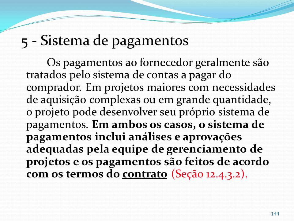 5 - Sistema de pagamentos