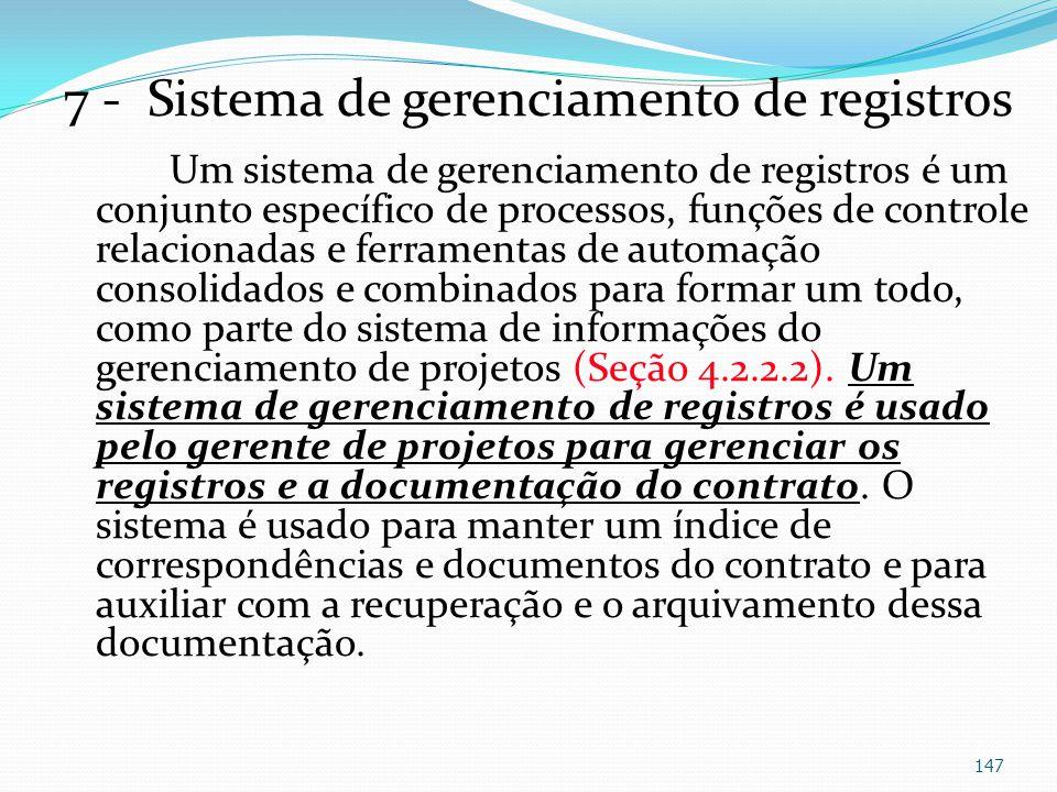 7 - Sistema de gerenciamento de registros